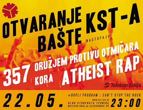 Bašta KSTa: Klub studenata tehnike započeće letnju sezonu tradicionalnim koncertom! | 2015