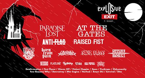 Explosive bina Exit 2016 line up
