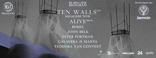 Beat žurka: Ten Walls u Beogradu 6. maja