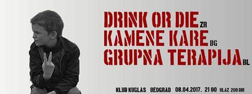 Drink or Die, Grupna Terapija i Kamene Kare u Kuglašu