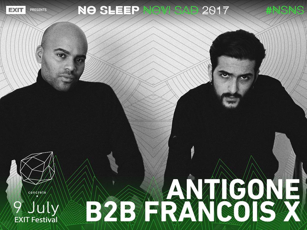 No Sleep Novi Sad - Concrete - Antigone i Francois X - Exit 2017