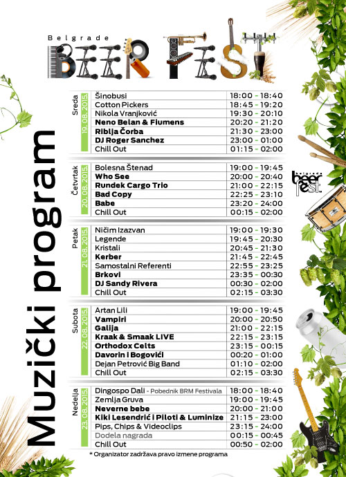 Sve je spremno za pocetak 13. Belgrade Beer Festa!   Belgrade Beer Fest 2015   Beogradski Festival Piva