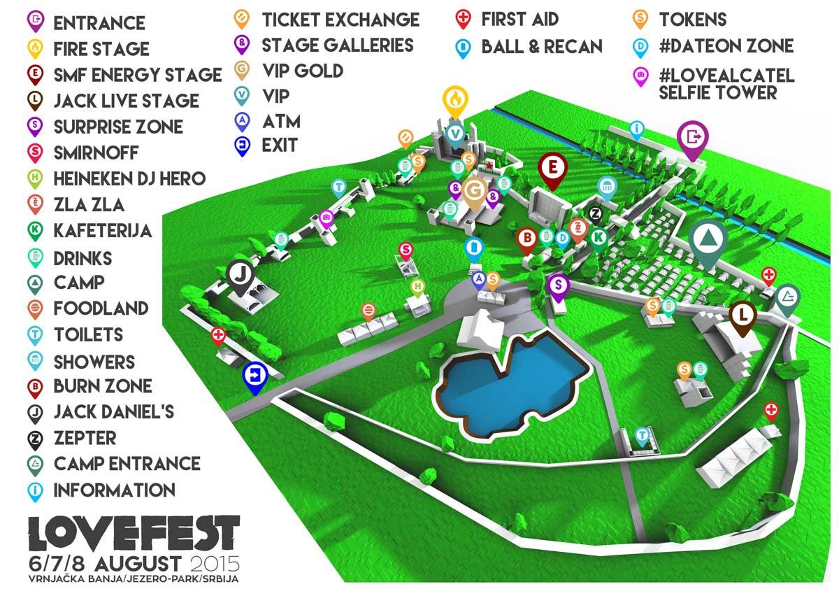 Lovefest 2015   Mapa festivala