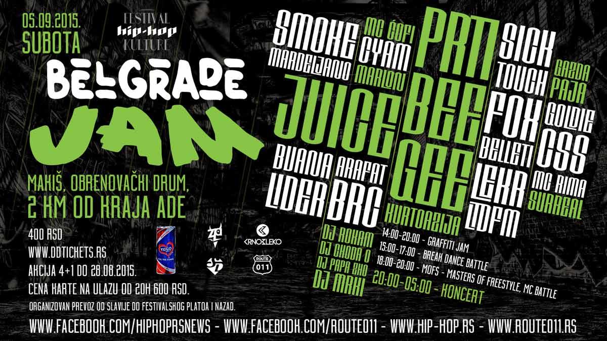 BELGRADE JAM: Muzika, graffiti, freestyle, breakdance i streetdance! FESTIVAL HIP HOP KULTURE
