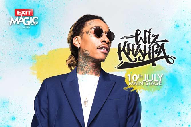 Najtraženiji svetski hip hop izvođač Wiz Khalifa dolazi na Exit 2016!