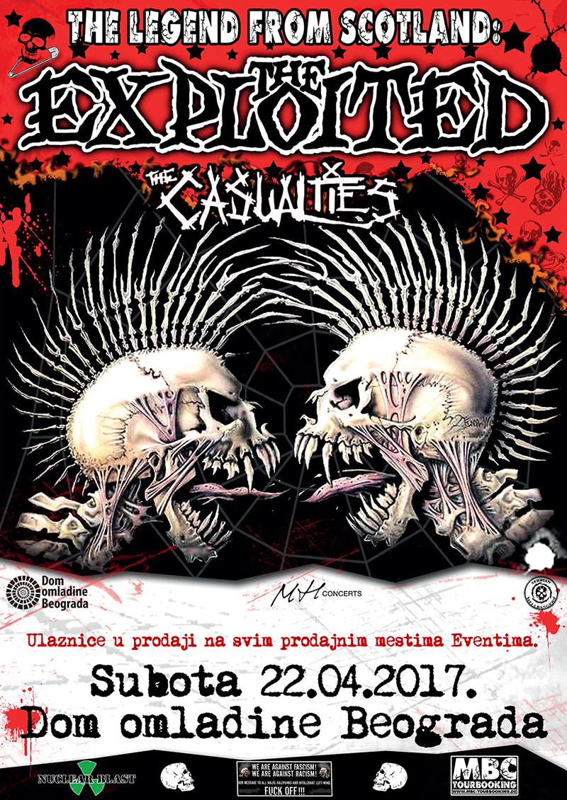 The Exploited u Domu omladine Beograda