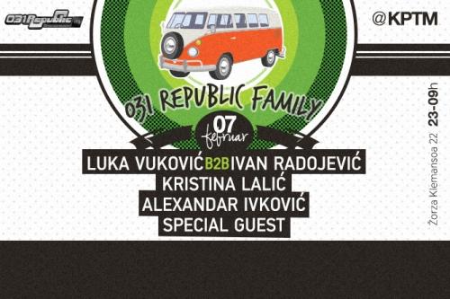 031 REPUBLIC FAMILY: Klubski spektakl uz specijalnog party gosta! | KPTM | Beograd | 2015