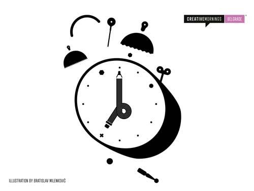 CreativeMornings: Danilo Ćurčić - I Want to Ride My Bike | Ilustration by Bratislav Milenkovic