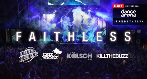 Faithless: Jedan od najvećih elektronskih bendova svih vremena slave 20 godina rada na Exit Dance Areni!   2015
