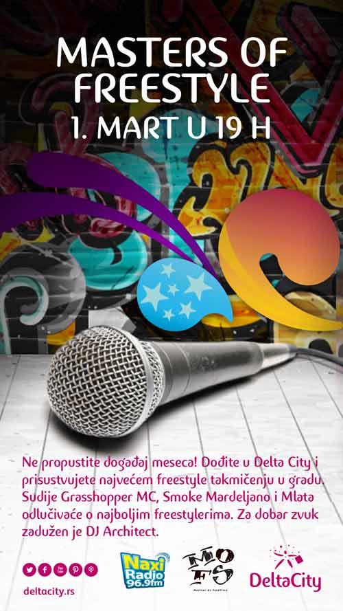 Masters of freestyle: Da li si baš ti majstor MC zanata? Počelo prijavljivanje za MC turnir | Delta City | 2015