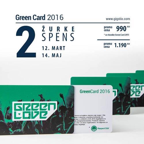 GREEN CARD za 4 nezaboravne GREEN LOVE žurke!