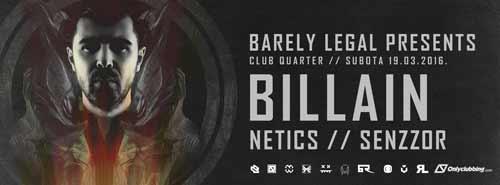BILLAIN: Velika drum and bass žurka u klubu the Quarter! | Novi Sad 2016