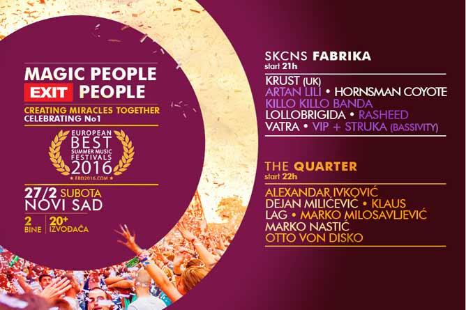 Magic People - EXIT People! Velika proslava evropske titule u Novom Sadu!