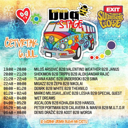 Urban Bug Stage - Exit 2017 - Četvrtak 6. jul