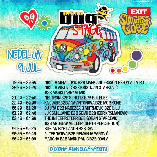 Urban Bug Stage - Exit 2017 - Nedelja 9. jul