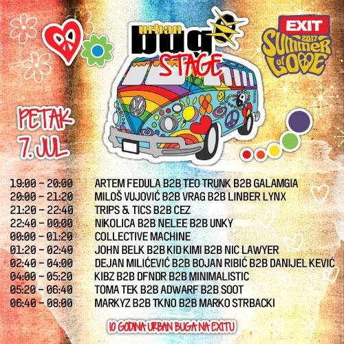 Urban Bug Stage - Exit 2017 - Petak 7. jul
