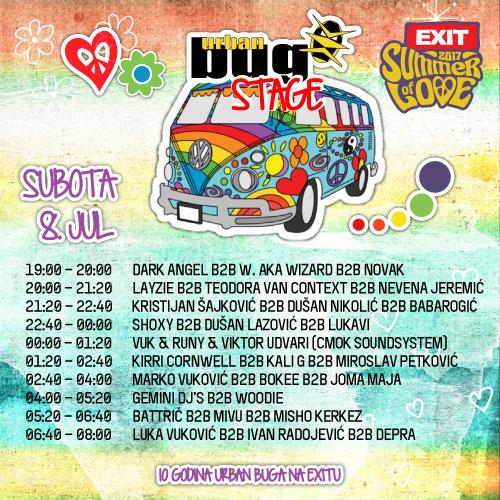 Urban Bug Stage - Exit 2017 - Subota 8. jul