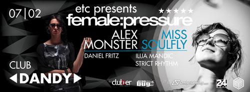 Enter The Cube presents female:pressure: Internacionalna mreža umetnica na polju elektronske muzike! | Novi sad | Klub Dandy | 2015