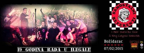 Samostalni referenti: Prvi beogradski ska bend slavi 19. rođendan! | Klub Božidarac | Beograd | 2015