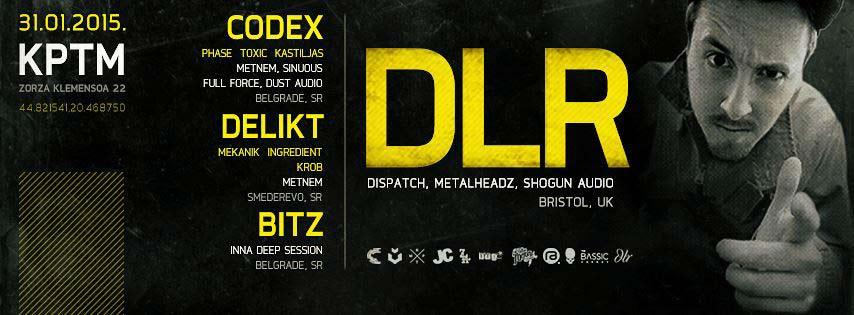 Drum and Bass spektakl: Legendarni producent DLR stiže u Beograd! | Klub KPTM | 2015