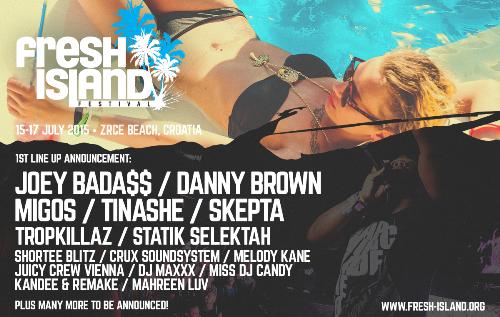 FRESH ISLAND: Objavljeni headlineri festivala! | Hip-Hop & R&B | 2015 |