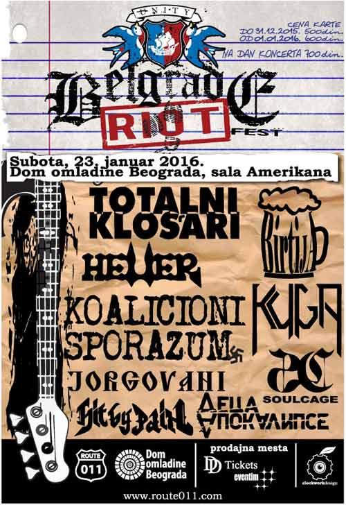 Belgrade Riot Fest: POBUNA u Domu Omladine! | Route 011 | Festival | Beograd 2016