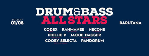 Trens i dram ovog vikenda u Barutani! | Drum and Bass All Stars