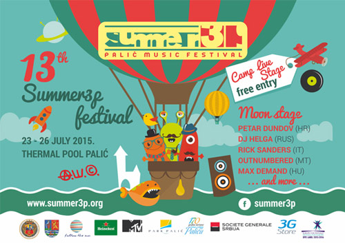 Atraktivan muzički program 13. Summer3p festivala! | Termalni bazeni, Palić