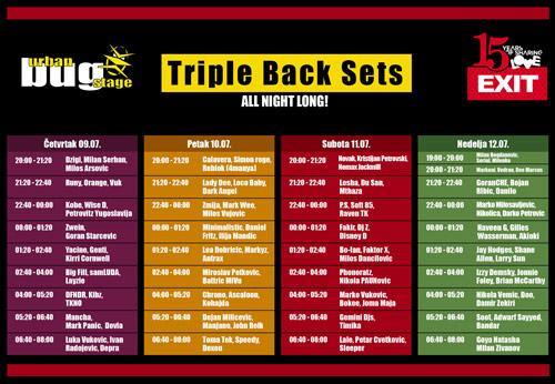 Urban BUG Stage EXIT 2015: Preko stotinu DJ-eva u triple back setovima!   Program i satnica