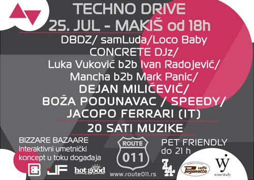 Dejan Milićević, Boža Podunavac, DJ Speedy & Jacopo Ferrari hedlajneri festivala TECHNO DRIVE | Makiš | Ada Ciganlija