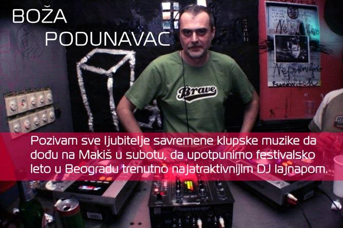 TECHNO DRIVE FESTIVAL: Boža Podunavac poziva sve ljubitelje klupske muzike da dođu na Makiš!!