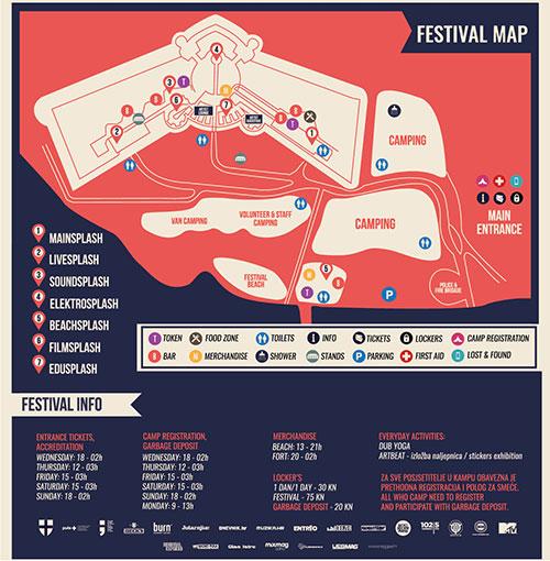 Seasplash festival mapa