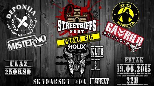 STREETRIFFS FEST promo GIG u klubu Sioux! | Koncert | Beograd | 2015