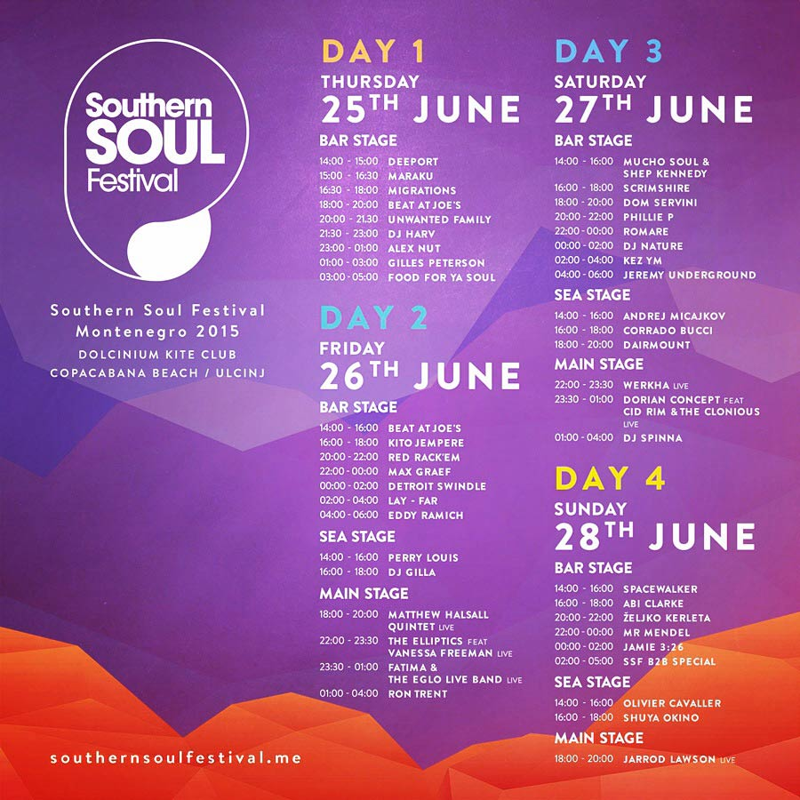 Southern Soul festival Montenegro 2015: Kompletan program i satnica festivala!