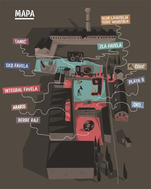 Festival Dev9 | Stvaraj dalje! | Mapa festivala Ciglana