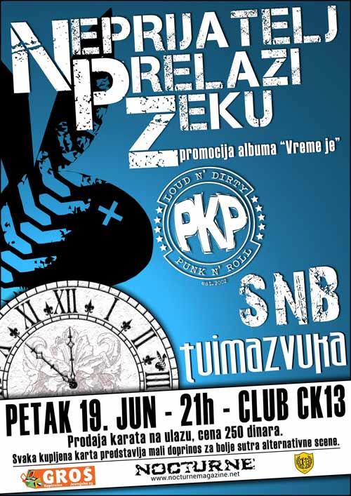 Neprijatelj prelazi zeku: Novosadski punk rock bend u klubu CK13   Koncert   2015