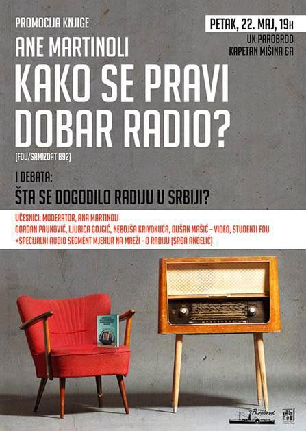 Ana Martinoli: Kako se pravi dobar radio? | Knjiga | Promocija knjige | UK Parobrod | Beograd | 2015