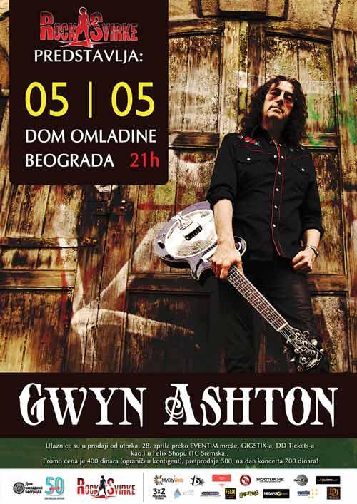Gvin Ešton (Gwyn Ashton): Poznati britanski bluz gitarista prvi put u Beogradu! | Dom omladine | 2015