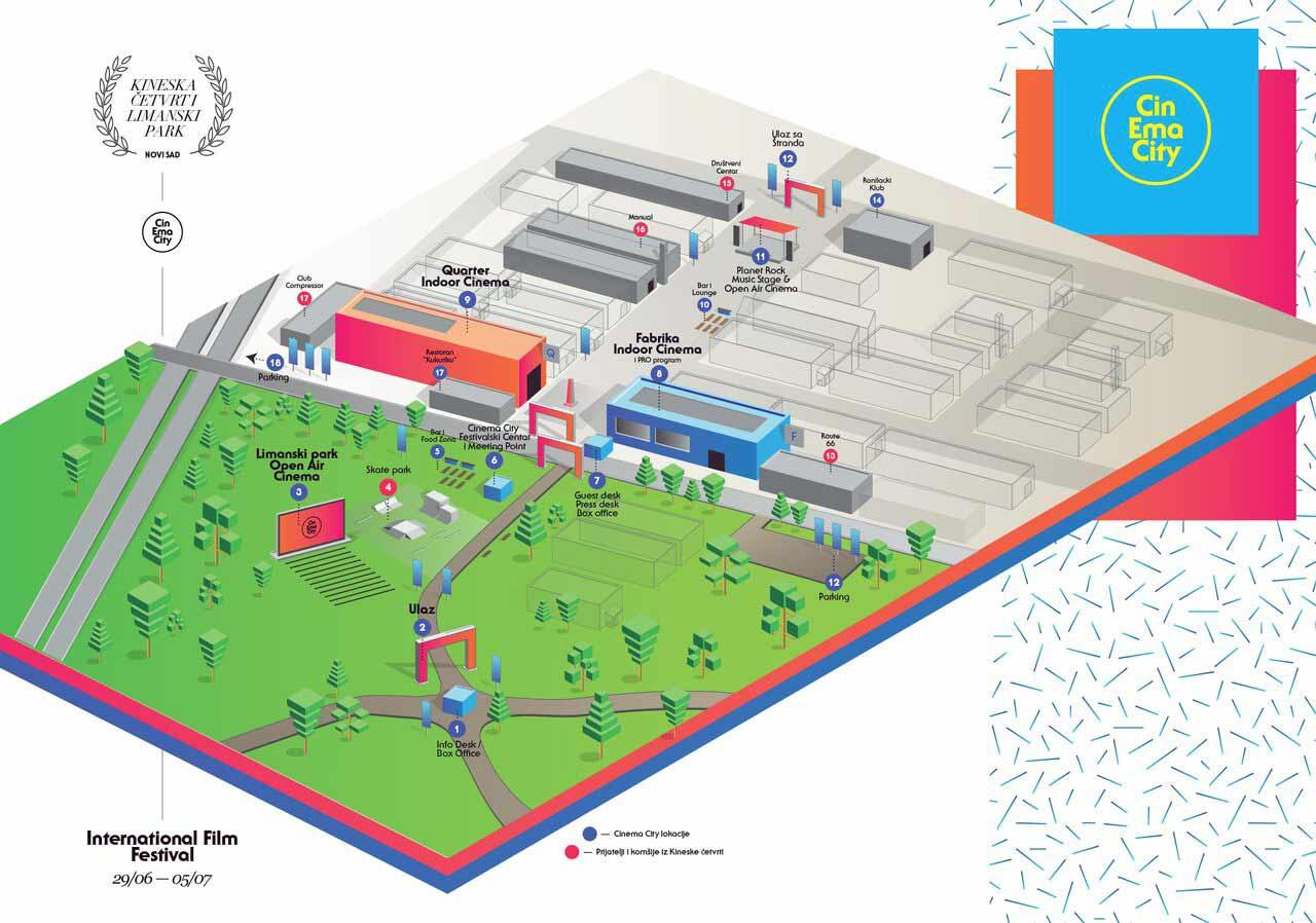 CINEMA CITY 2015   Mapa NOVA KREATIVNA ČETVRT   Novi Sad