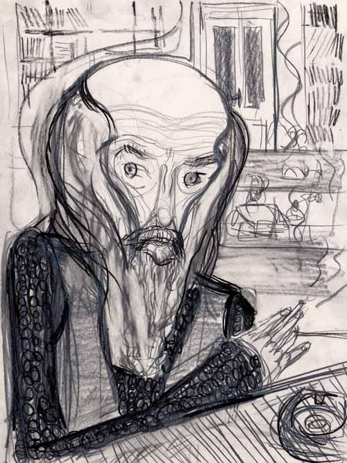 Jasmina Kalić: Izložba portreta u crtežu u galeriji FLU | Beograd | 2015