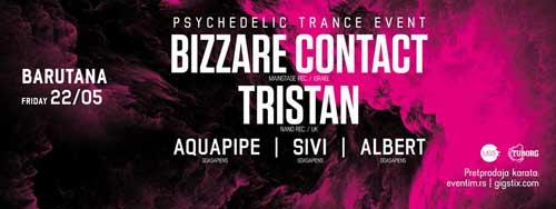 TRISTAN & BIZZARE CONTACT: Goasapiens ekipa otvara psihodeličnu letnju sezonu u Barutani! | Trance | Beograd | 2015