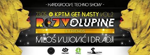 Rejv Olupine & Friends: Retro Techno & Hardgroove Battle | Klub KPTM | Beograd | 2015