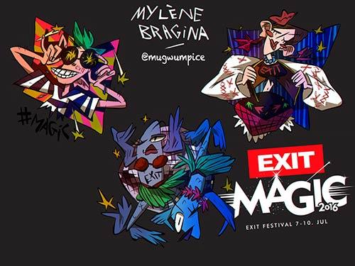 Moja Exit Avantura Viber stiker dizajn - Milena Bragina