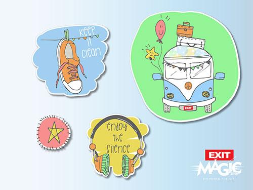 Moja Exit Avantura Viber stiker dizajn - Sofija Jovandić