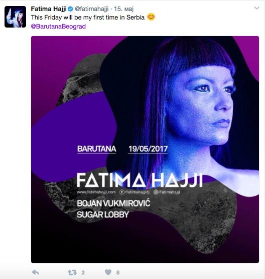 Fatima Hajji - Barutana - 19. maj - Beograd