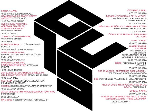 Aprilski susreti 2015: Kompletan program glavne godišnje manifestacije SKC-a!   Beograd   2015