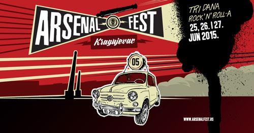 Arsenal fest 2015: Pet bina na petom Arsenal festu u Kragujevcu! | S.A.R.S. | Elemental | Kolja i Grobovlasnici | Artan Lili | LTJ Bukem | MC Stamina