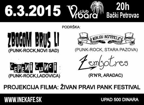 INE KAFE: Punk rock sastav iz Bratislave na evropskoj turneji! | Bački Petrovac | 2015