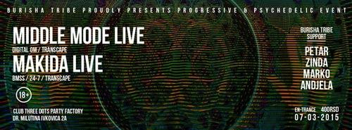 Klub THREE DOTS | Burisha tribe | Progressive& psychedelic