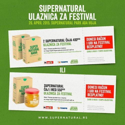 Ulaznice | SUPERNTAURAL FESTIVAL | Ada Huja | Beograd | 2015